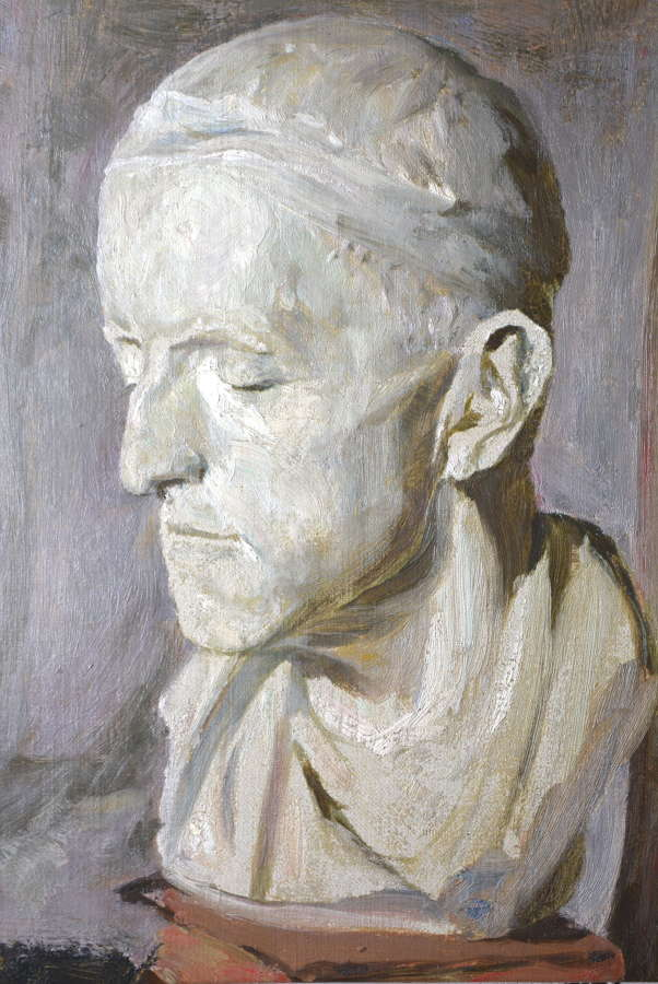 OIL ON CANVAS OF A CLASSICAL BUST BY COEN (CONRAD THEODORE) VAN OVEN