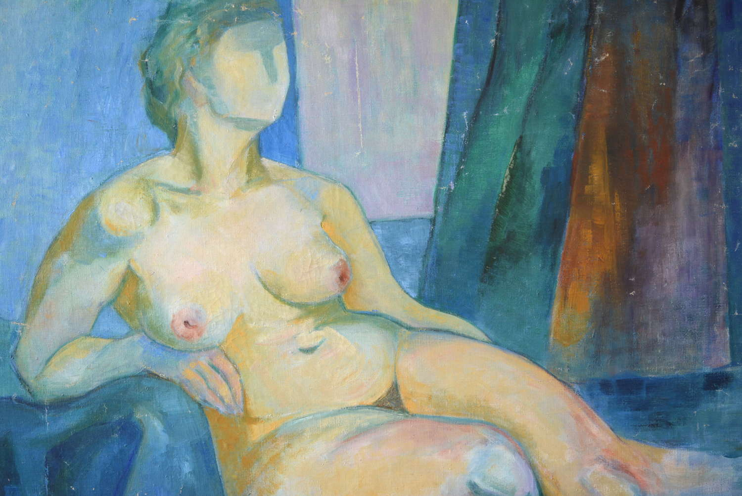 MID CENTURY STUDY OF A NUDE BY HILMO VIRMA