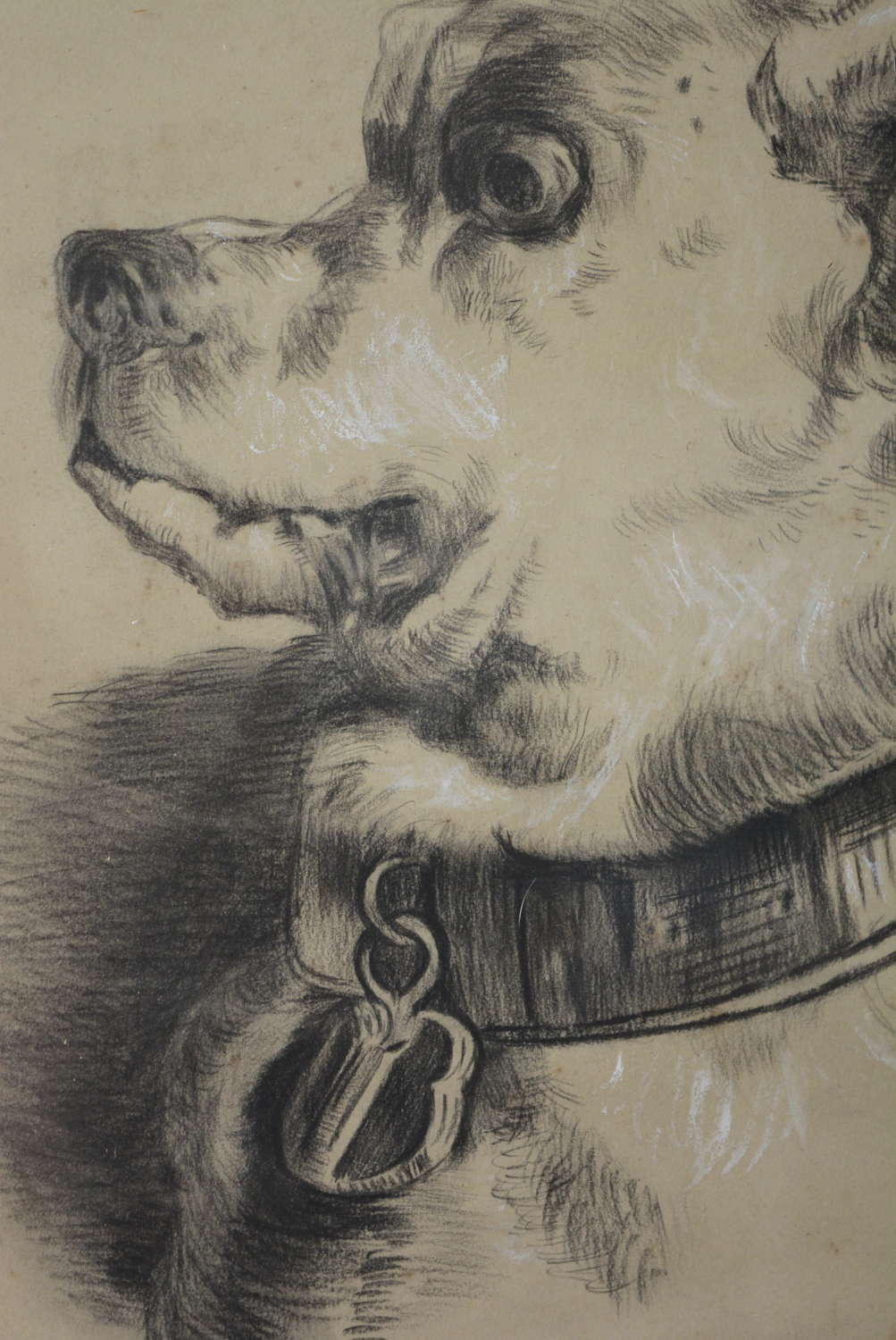 19TH CENTURY PENCIL DRAWING OF ALEXANDER THE GREAT