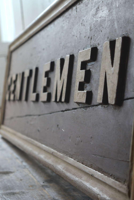 EARLY 20TH CENTURY GENTLEMEN'S RAILWAY SIGN