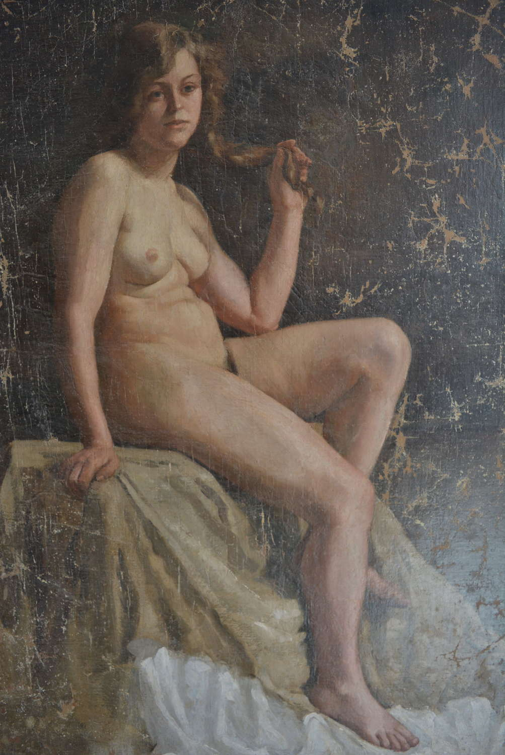 EARLY 20TH CENTURY FEMALE NUDE LIFE STUDY