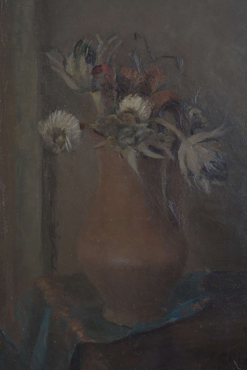 LAURE-CECILE 'LOUISE' GUYOT STILL LIFE JUG WITH THISTLES