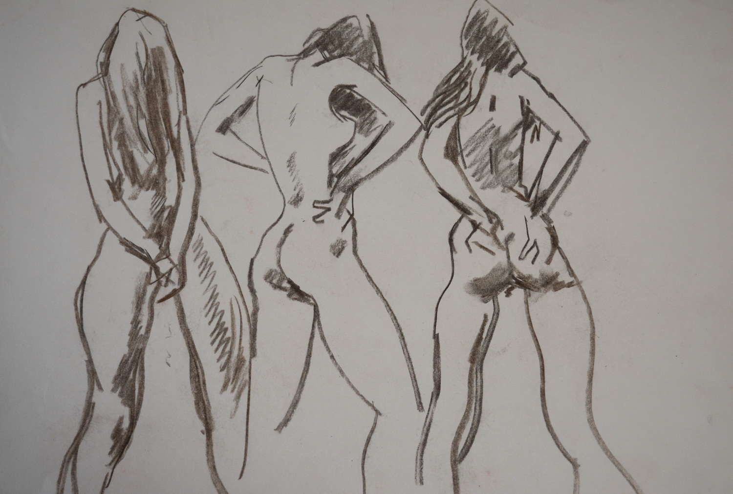 PETER COLLINS PENCIL STUDY OF A FEMALE NUDE