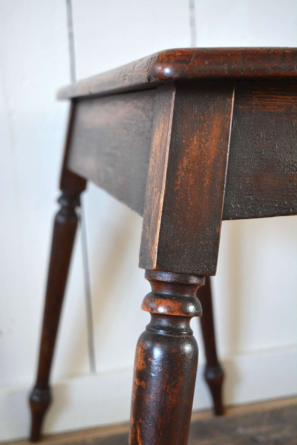 PINE AND WALNUT C1830 COFFIN/JOINT STOOL