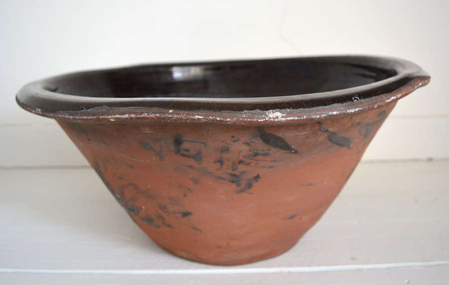 LARGE PANCHEON WITH BLACK GLAZE