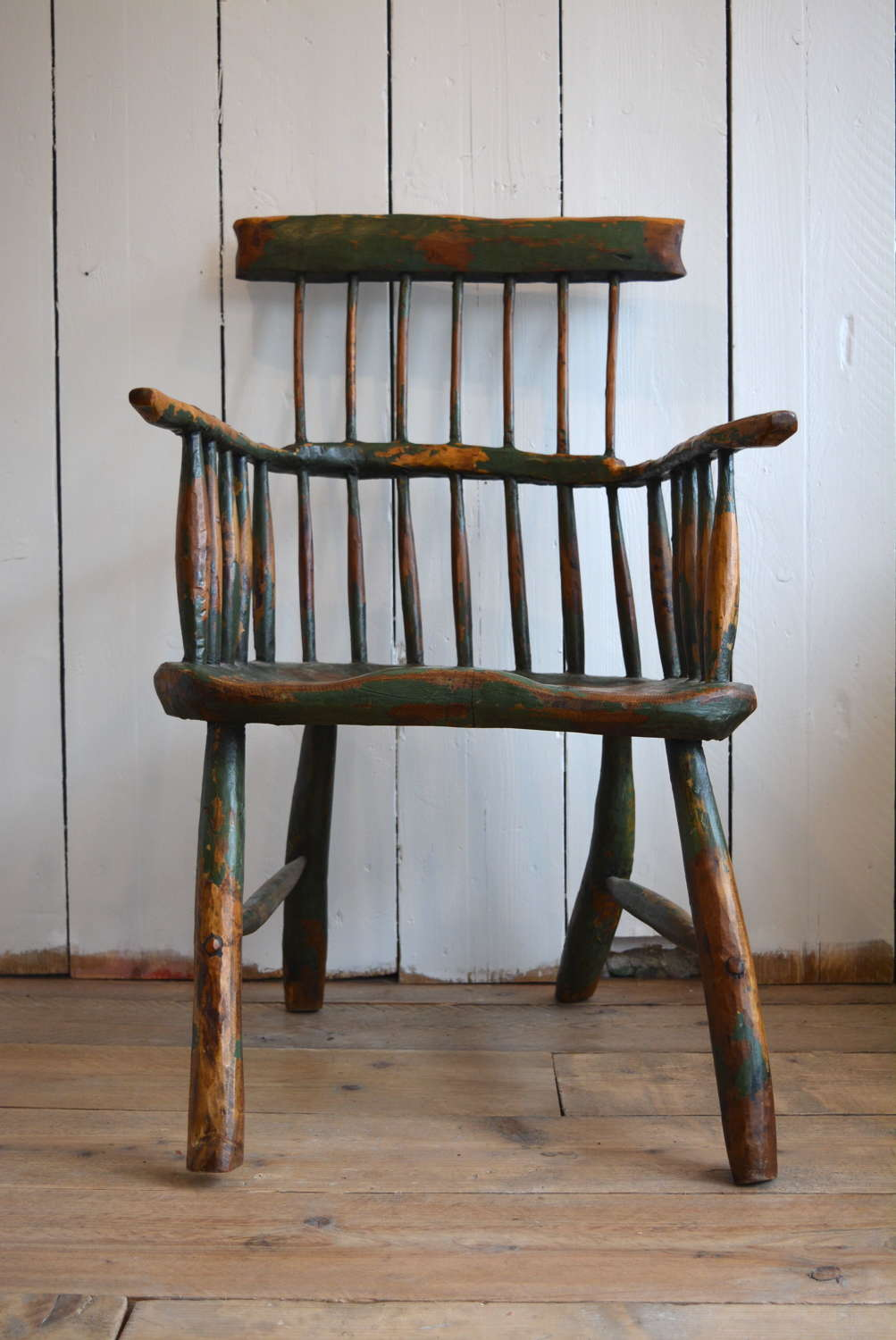 19TH CENTURY WEST COUNTRY STICK BACK CHAIR