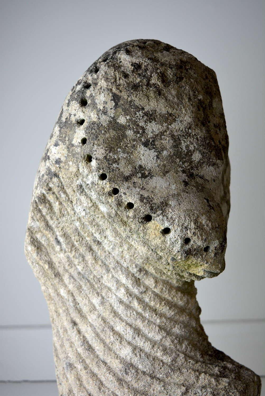 14TH CENTURY WEATHERED HEAD