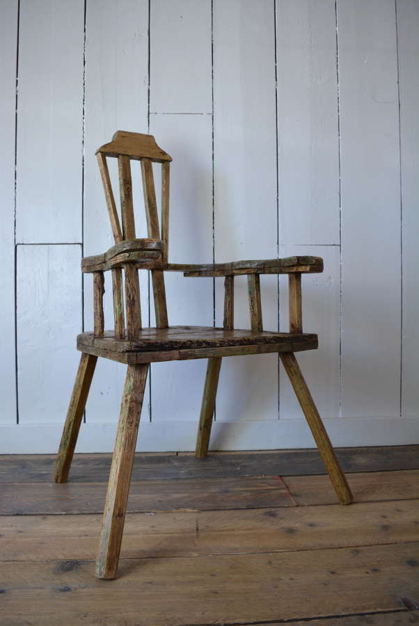 19TH CENTURY SWEDISH PRIMITIVE CHAIR