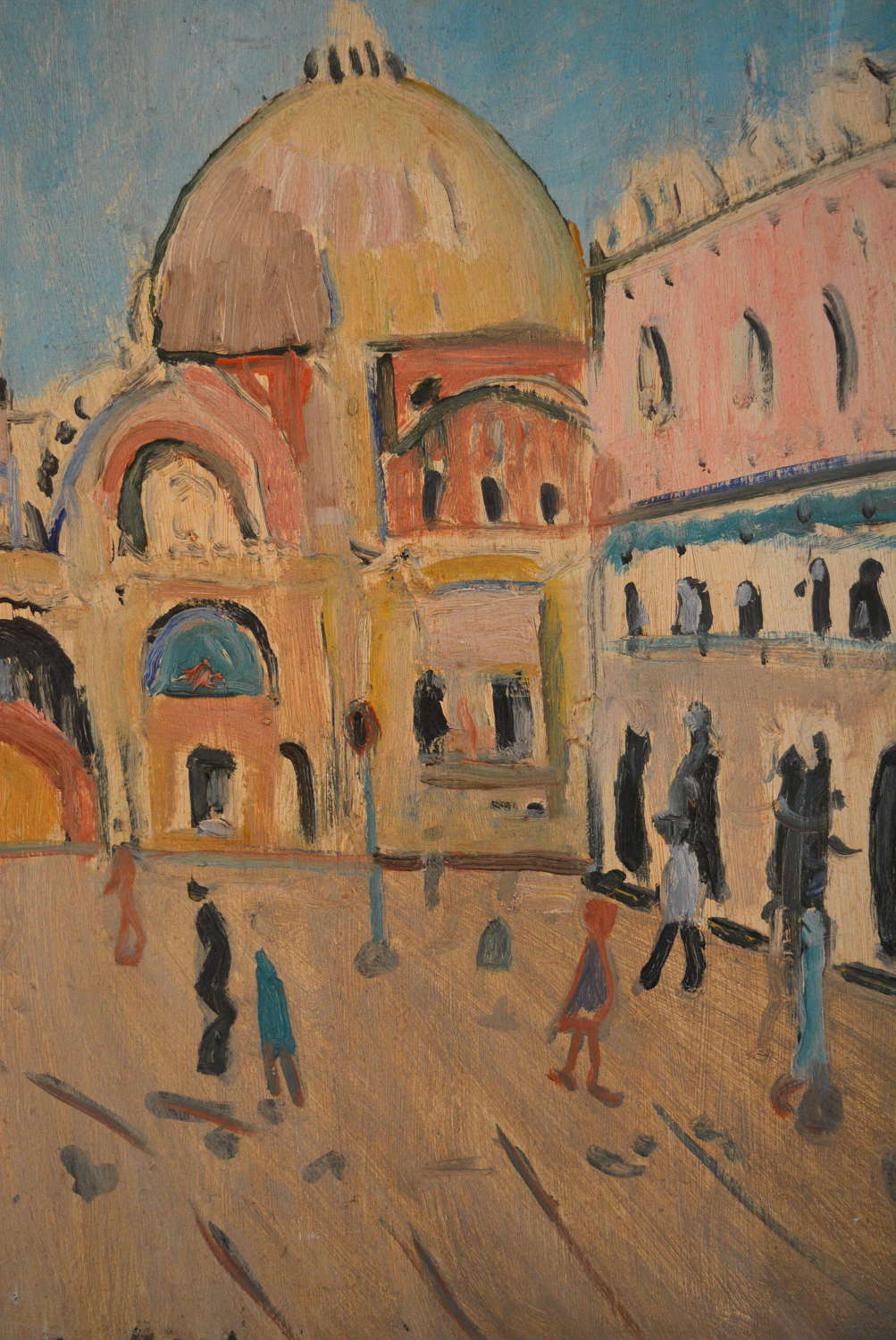 OIL ON CANVAS OF ST MARKS SQUARE AFTER IRMA STERN