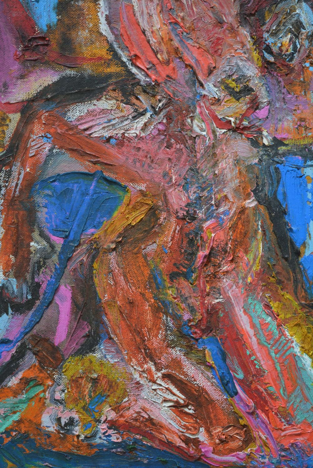UNSIGNED ABSTRACR FIGURE STUDY