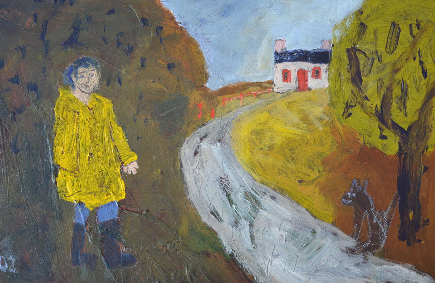 DAVID PEARCE FIGURE IN LANDSCAPE