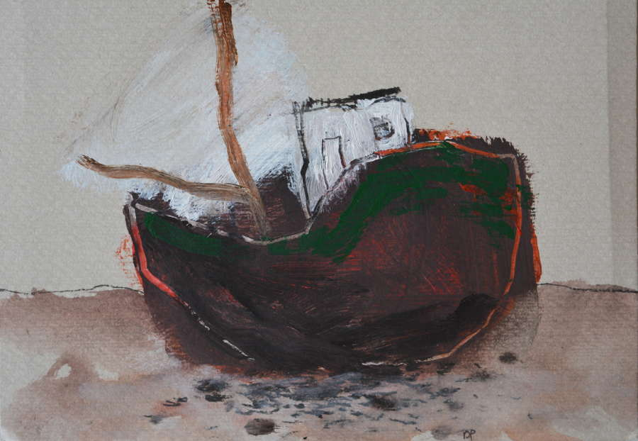 DAVID PEARCE STUDY OF A FISHING BOAT