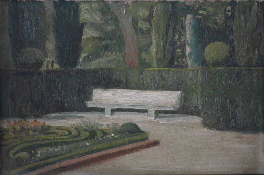 FRENCH SCHOOL - BENCH IN PARK