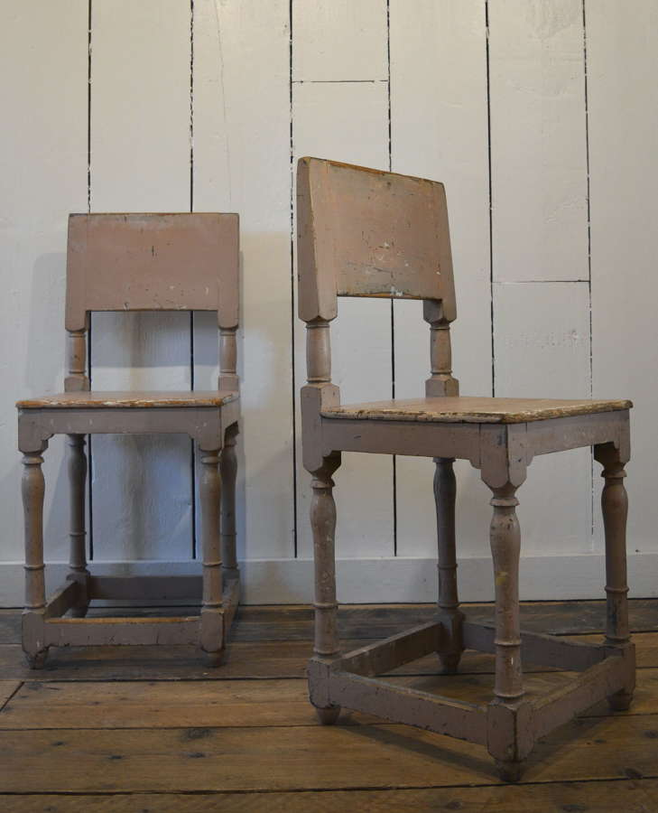 PAIR OF 19TH CENTURY PAINTED SWEDISH CHAIRS
