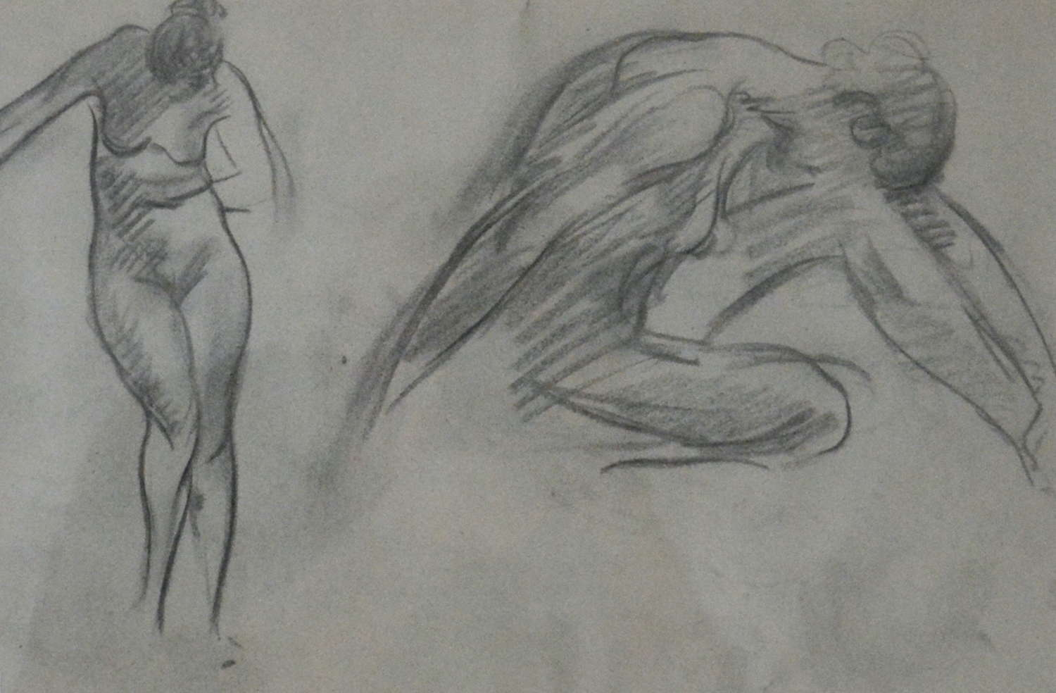 EARLY 20TH CENTURY RENE THOMSEN CHARCOAL STUDIES