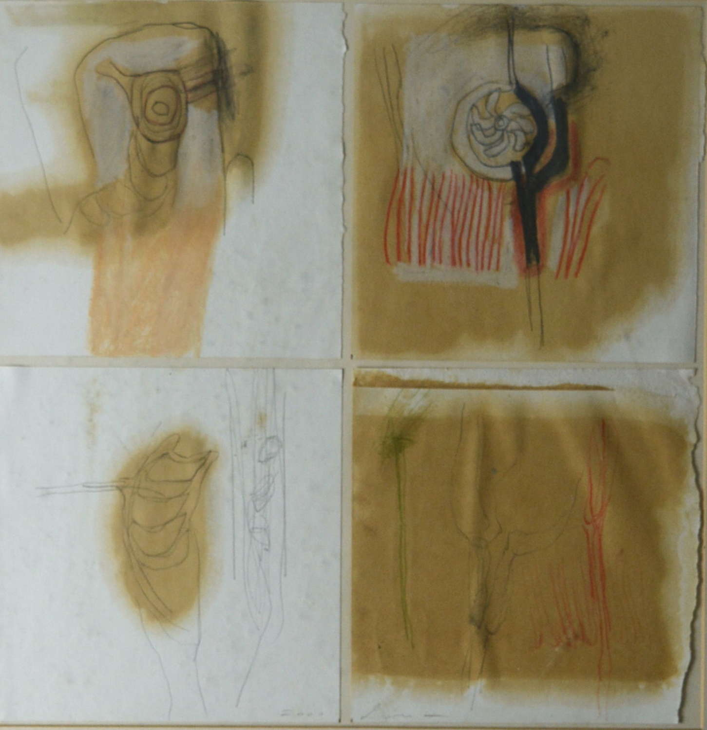 COMPOSITION OF ABSTRACT STUDIES BY KAREN LORENZ