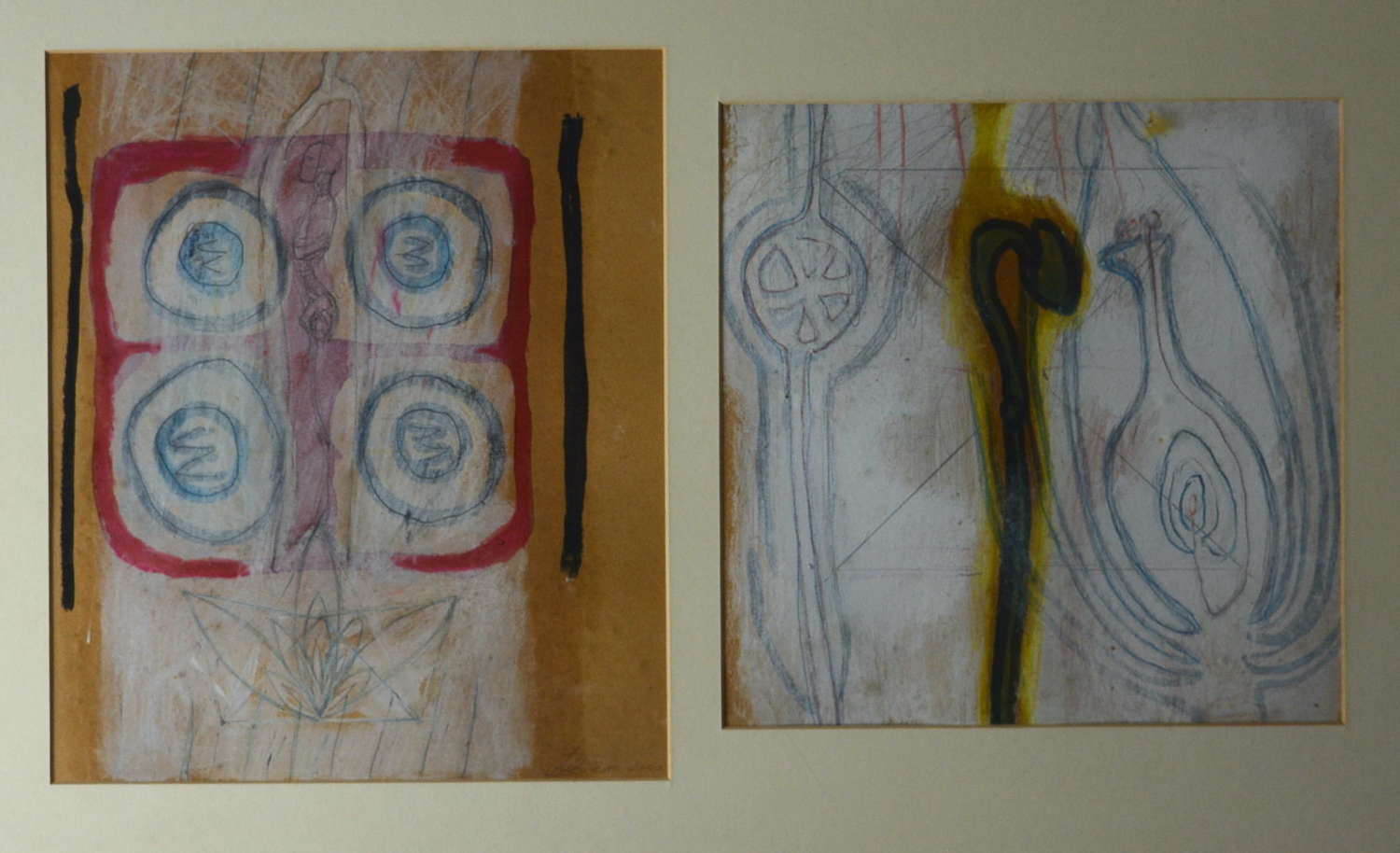 COMPOSITION OF TWO ABSTRACT STUDIES BY KAREN LORENZ