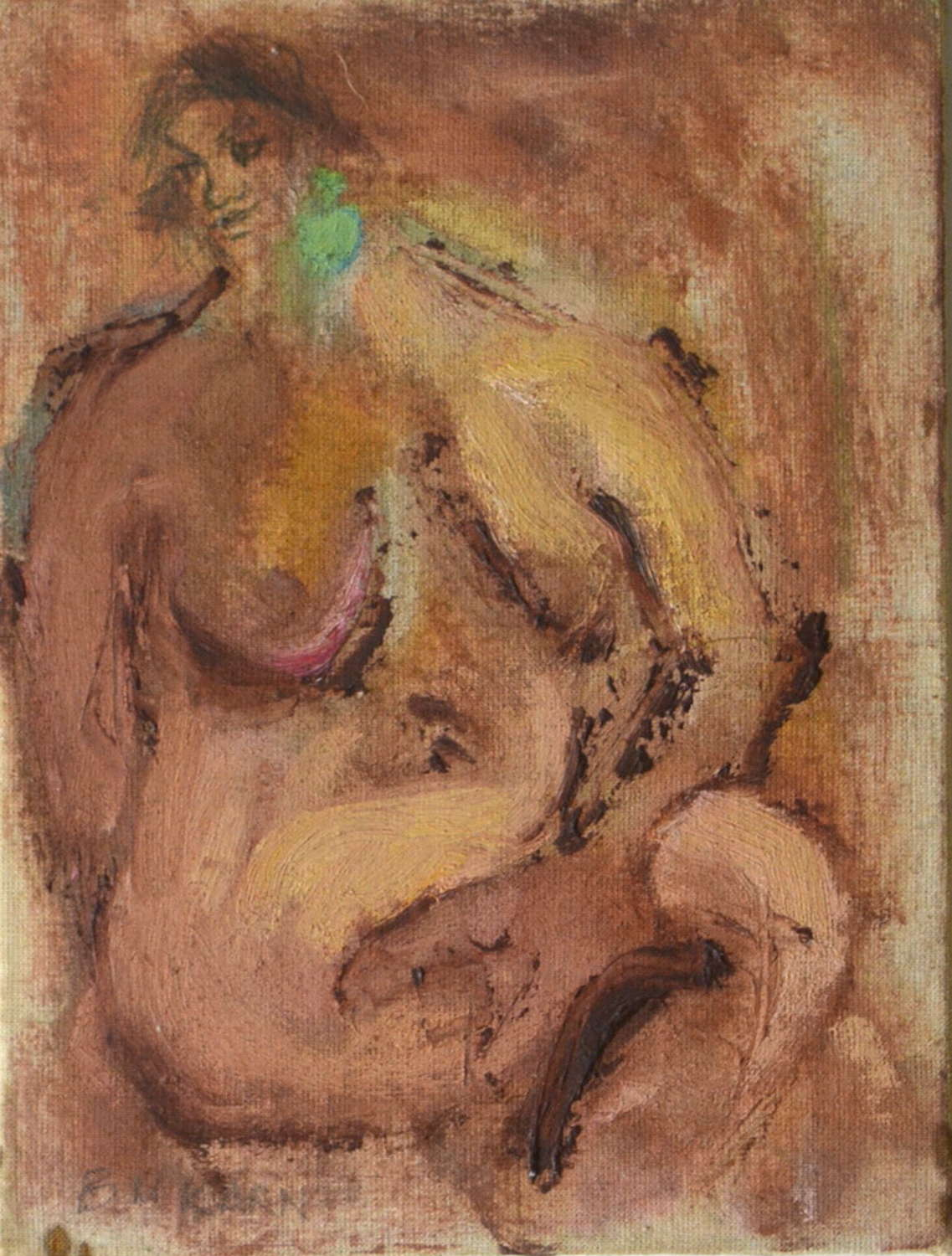 ABSTRACT NUDE STUDY BY BARBARA KARN