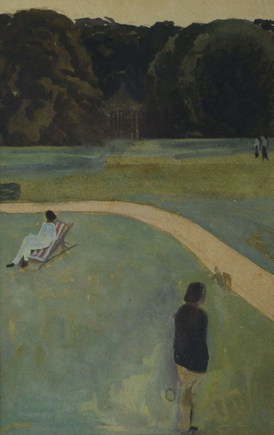 A STUDY OF FIGURES IN A PARK BY MORWENNA THISTLETHWAITE