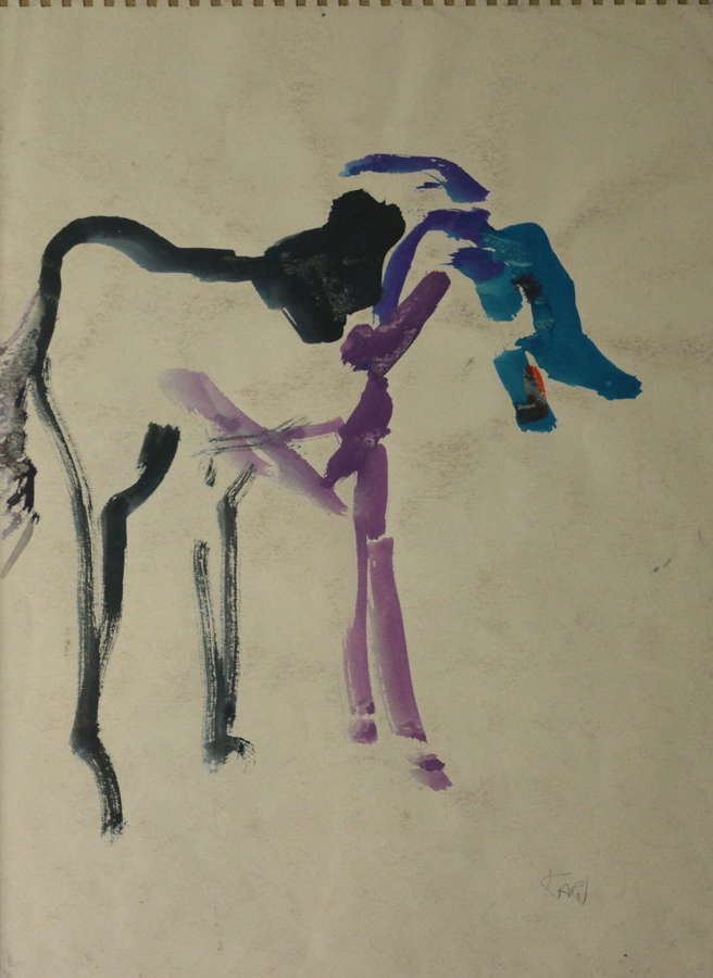 AN ABSTRACT HORSE STUDY BY BARBARA KARN