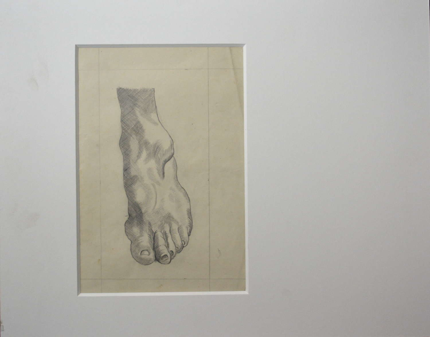 LATE 19TH CENTURY STUDY OF A FOOT