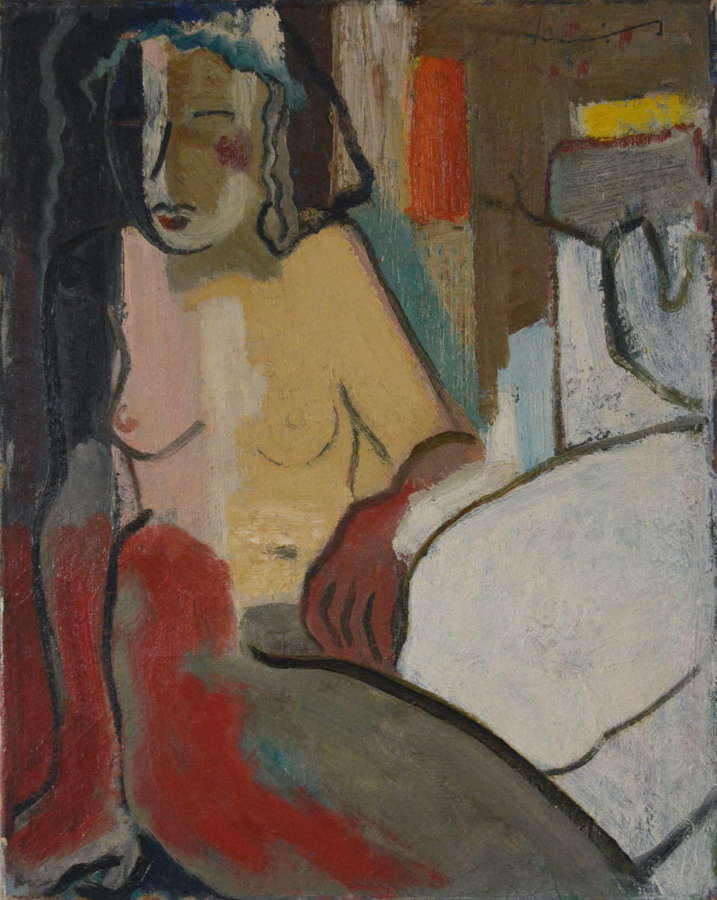 MID 20TH CENTURY ABSTRACT FIGURE STUDY BY HARRIE HEINEMANS