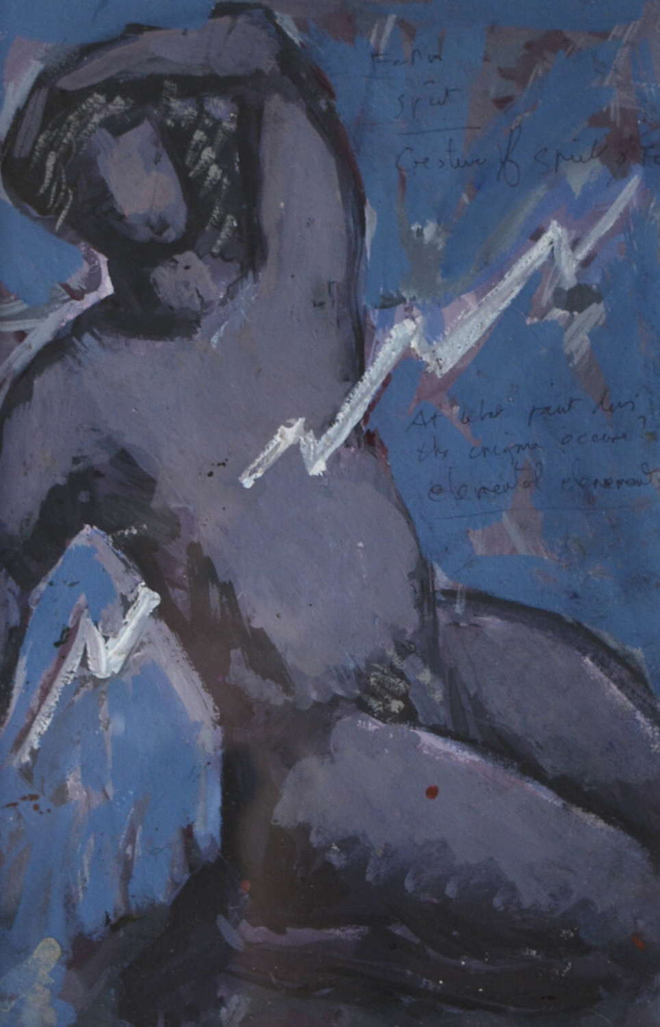 CORNISH SCHOOL ABSTRACT FIGURE ATTRIBUTED TO IVAN BRAY