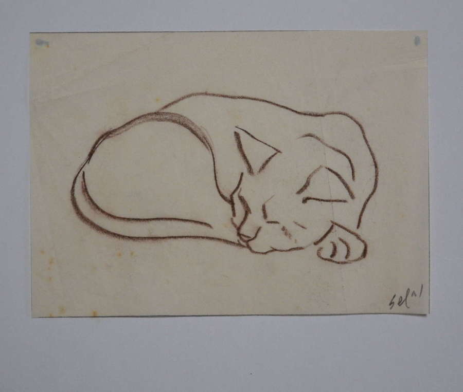 HYMAN SEGAL STUDY OF A CAT