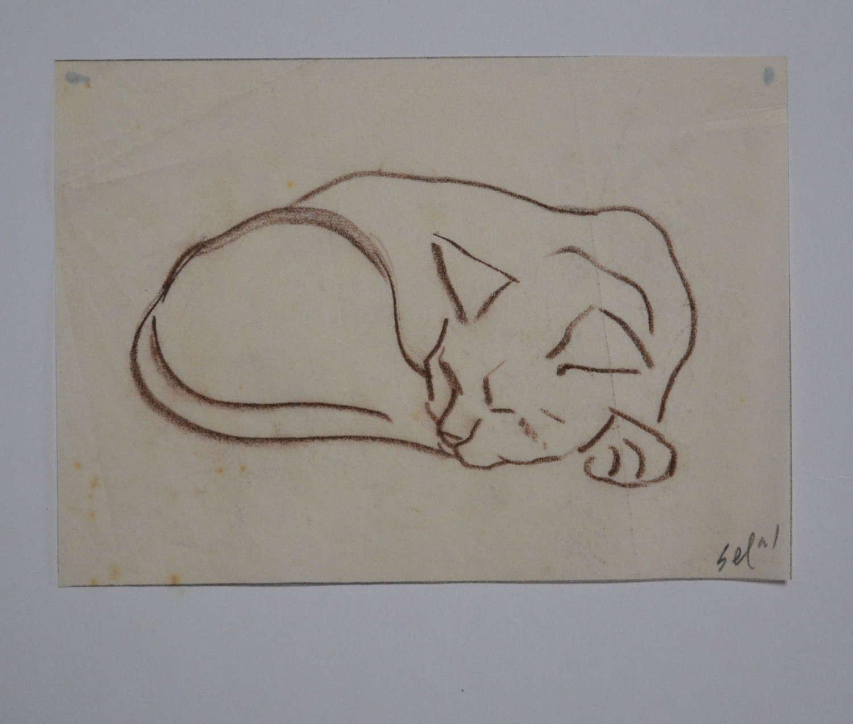 HYMAN SEGAL STUDY OF A CAT