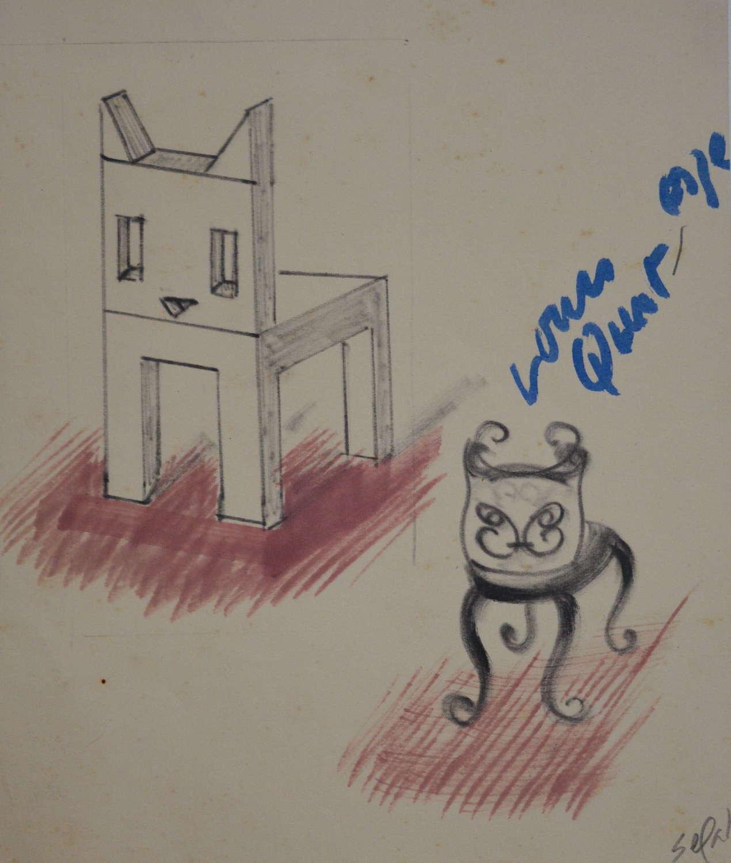 HYMAN SEGAL CAT CHAIR STUDY