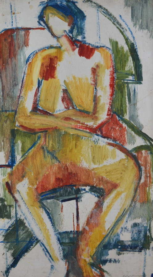 JOHN EMANUEL SEATED FIGURE STUDY
