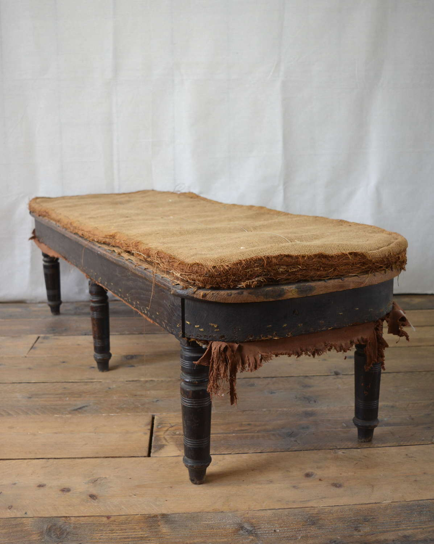 LATE 19TH CENTURY HALL SEAT